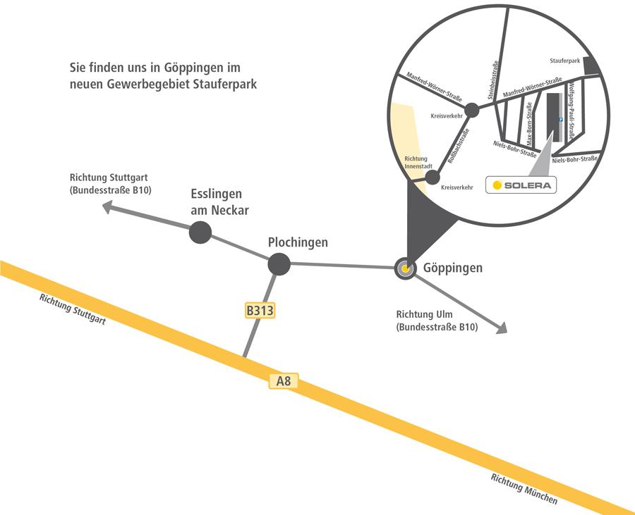 Anfahrtsskizze Solera Göppingen