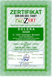 Solera DIN EN OEKO 14001