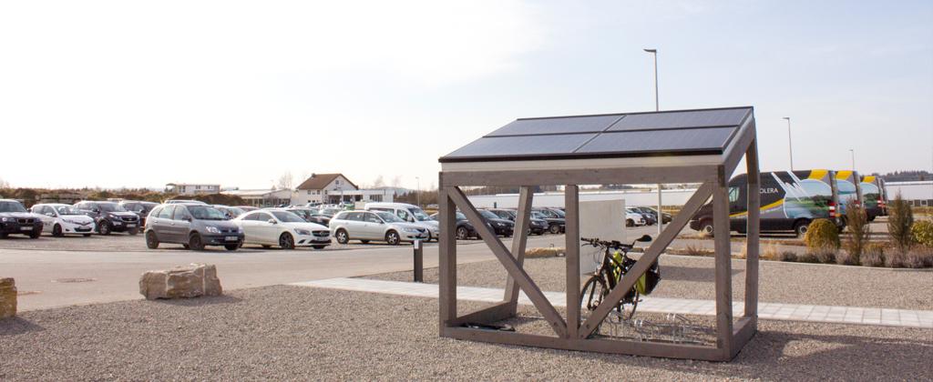 RADhaus Fahrradabstellplatz mit Photovoltaikmodulen