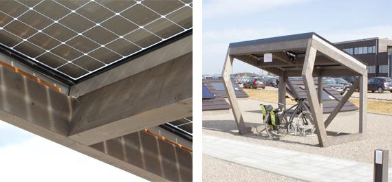 RADhaus Photovoltaikmodule und Frontansicht