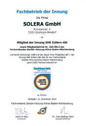 Solera Fachbetrieb der Innung Sanitär Heizung Klima BaWü