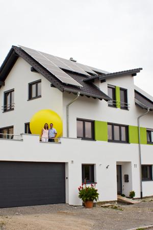Ehepaar Volk Geislingen Photovoltaik-Anlage und Wärmepumpe