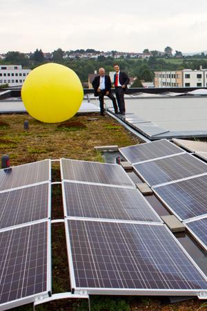 Massimo Scuderie, Geschäftsführer der Firma M.K. Computer ELECTRONIC GmbH und Eduard Freiheit, Geschäftsführer der Freiheit-Consulting GmbH