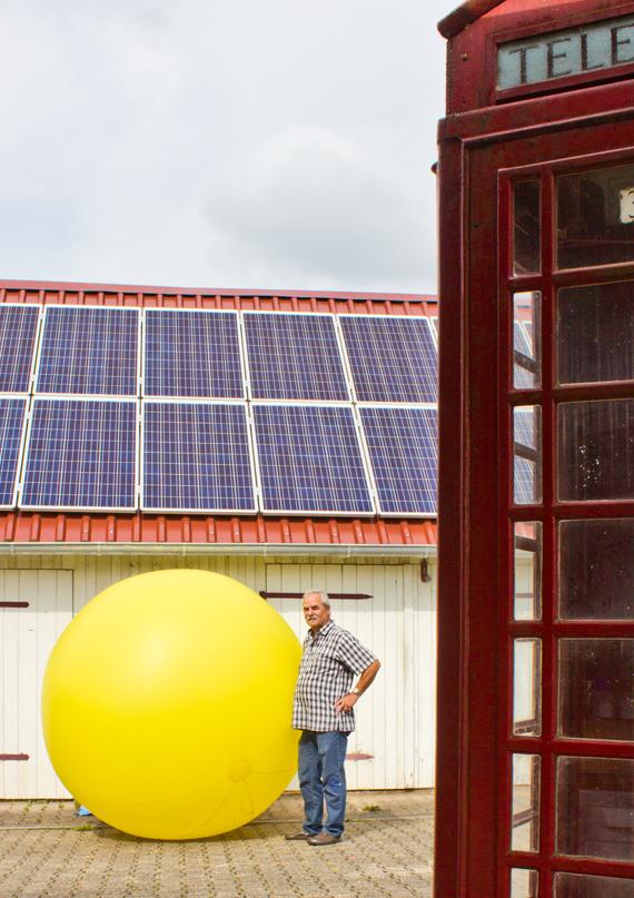 Herr Schlenker Niedereschach Photovoltaikanlage mit Zitat