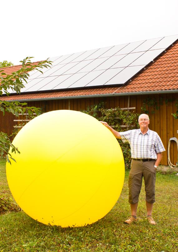 Herr Schneider Bickelsberg Photovoltaik-Anlage groß