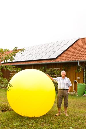 Herr Schneider Bickelsberg Photovoltaik-Anlage