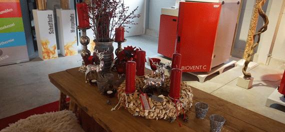 feuer und flamme 2015 impressionen solera ausstellungsraum weihnachtlich. Black Bedroom Furniture Sets. Home Design Ideas