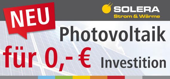 Photovoltaik für 0,- Euro Investition